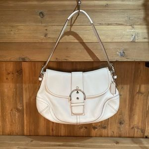 Coach Soho Flap Hobo White